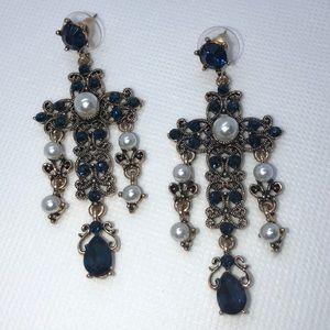 Cross Chandelier Dangle Earrings